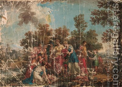 The finding of Moses 2 by (after) Gaspare Diziani - Reproduction Oil Painting
