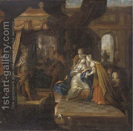 Esther and Ahasuerus by (after) Gerard De Lairesse - Reproduction Oil Painting
