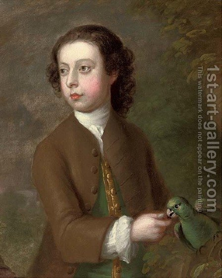 Portrait of a boy by (after) George Knapton - Reproduction Oil Painting
