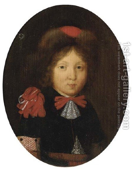 Portrait of a boy by (after) Gerard Ter Borch - Reproduction Oil Painting