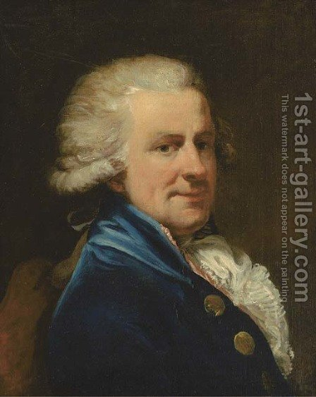 Portrait of a gentleman 3 by (after) Gilbert Stuart - Reproduction Oil Painting