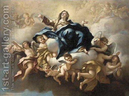 The Assumption of the Virgin by (after) Giovanni Battista (Baciccio) Gaulli - Reproduction Oil Painting