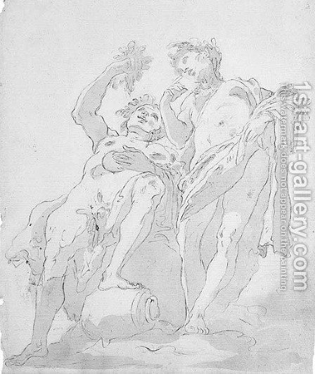 Bacchus and Vertumnus by (after) Giovanni Battista Tiepolo - Reproduction Oil Painting