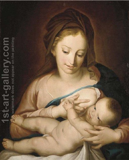 The Madonna and Child by (after) Giulio Carpioni - Reproduction Oil Painting