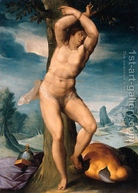 Saint Sebastian by (after) Giuseppe (d'Arpino) Cesari (Cavaliere) - Reproduction Oil Painting
