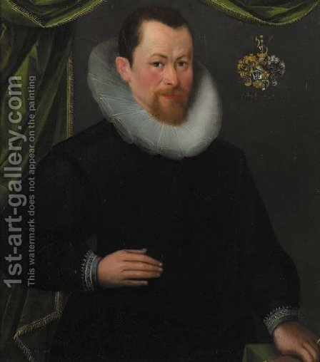 Portait of a gentleman by (after)  Gortzius Geldorp - Reproduction Oil Painting