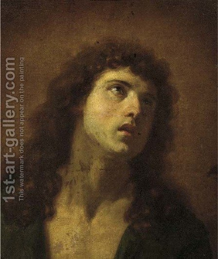 Head of a man by (after) Guido Reni - Reproduction Oil Painting