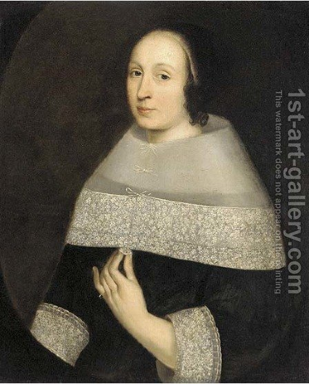 Portrait of a lady by (after) Hendrick Van Vliet - Reproduction Oil Painting