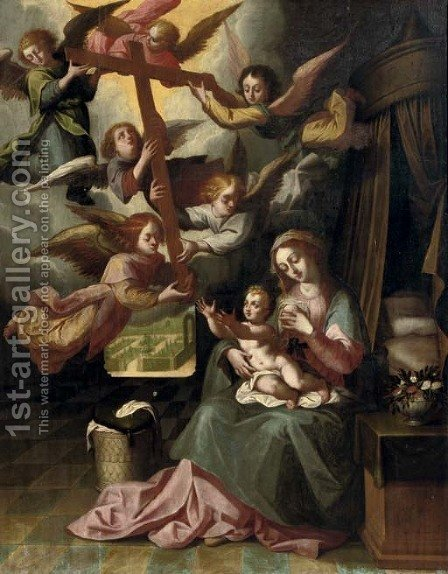 The Christ Child being presented with the Cross by (after) Hendrik Van Balen, I - Reproduction Oil Painting