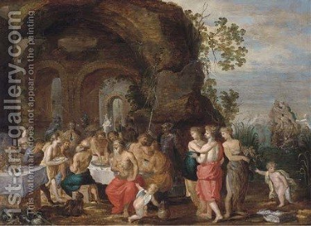 The Feast of Achelous by (after) Hendrik Van Balen, I - Reproduction Oil Painting