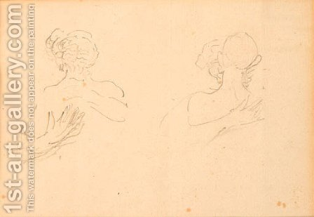 Bustes de femmes by (after) Henri De Toulouse-Lautrec - Reproduction Oil Painting