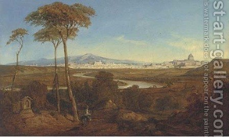 A view of the Roman campagna by (after) Hermann David Salomon Corrodi - Reproduction Oil Painting