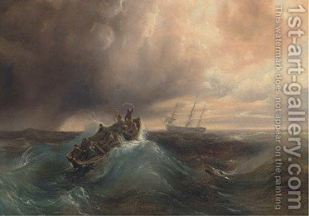 The stranded sailors by (after) Ivan Konstantinovich Aivazovsky - Reproduction Oil Painting