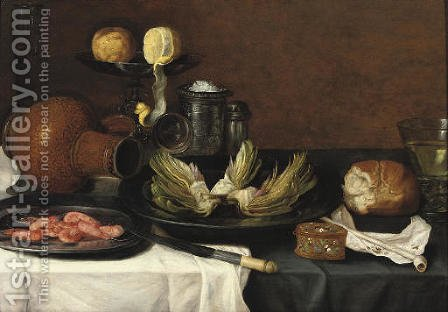 Still life by (after) Jacob Foppens Van Es - Reproduction Oil Painting