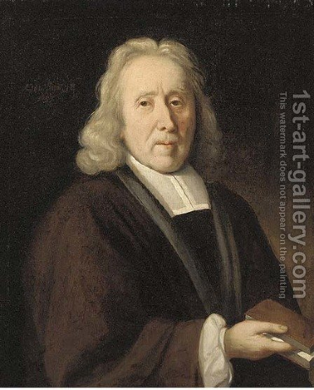 Portrait of a cleric by (after) Jacob Van Oost II - Reproduction Oil Painting