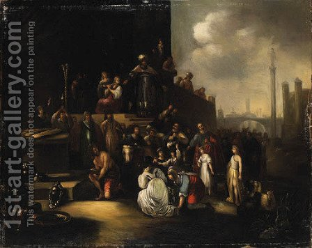 The Continence of Scipio by (after) Jacob Willemsz De The Elder Wet - Reproduction Oil Painting