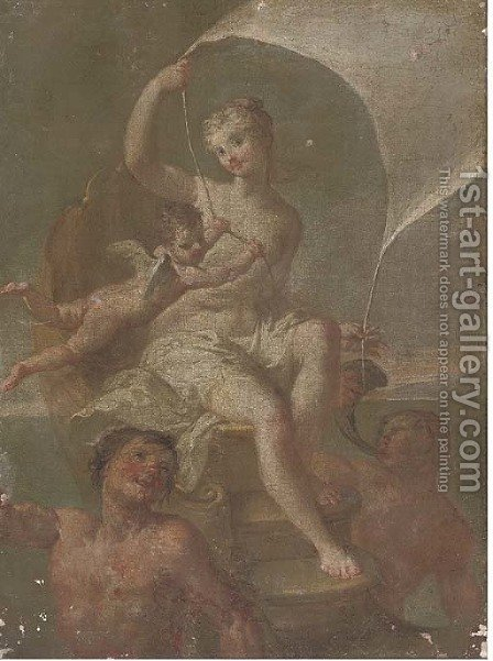 Galatea by (after) Jacopo (Giacomo) Amigoni - Reproduction Oil Painting