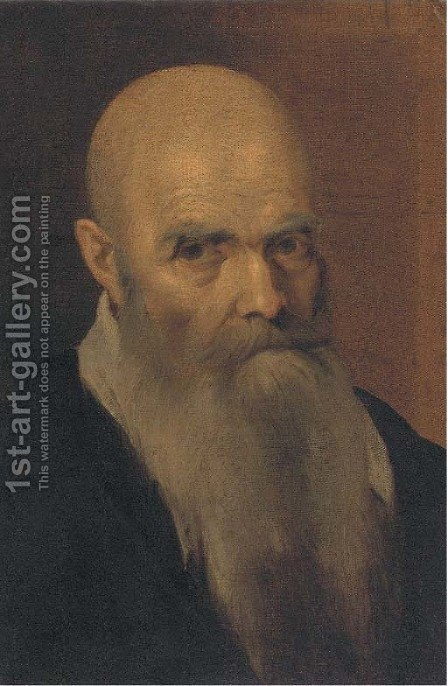 Portrait of an elderly man by (after) Jacopo Tintoretto (Robusti) - Reproduction Oil Painting