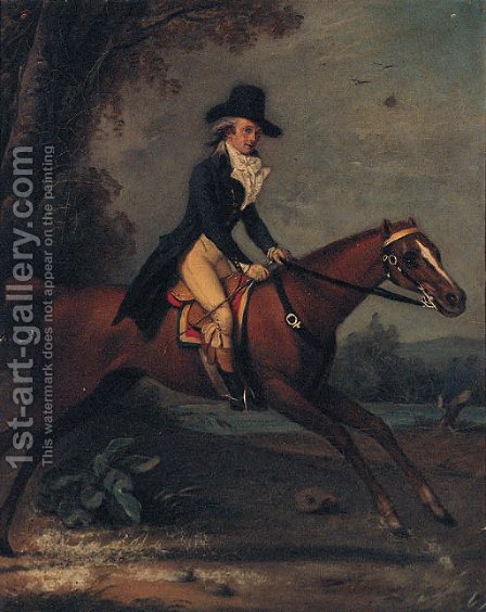 Portrait of Gaston de Grieu by (after) Jacques Laurent Agasse - Reproduction Oil Painting