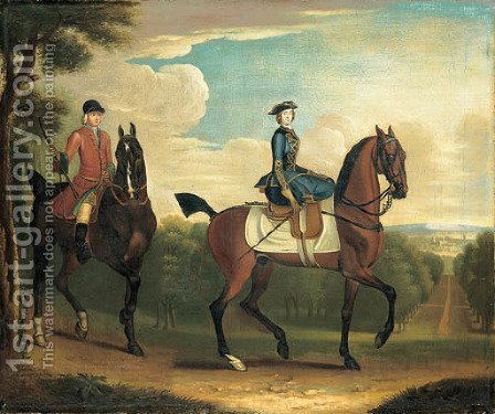 The Princess Amelia riding with her favourite groom by (after) James Seymour - Reproduction Oil Painting