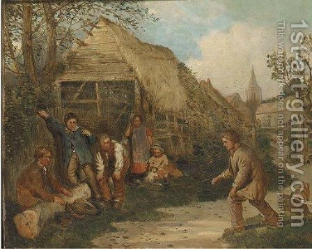 A game of egg cap by (after) James William Cole - Reproduction Oil Painting
