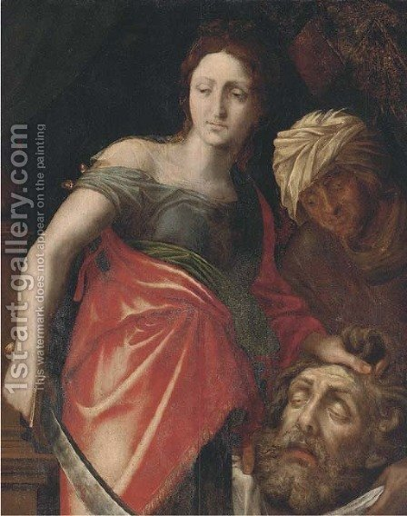 Judith with the head of Holofernes by (after) Jan Van Boeckhorst - Reproduction Oil Painting