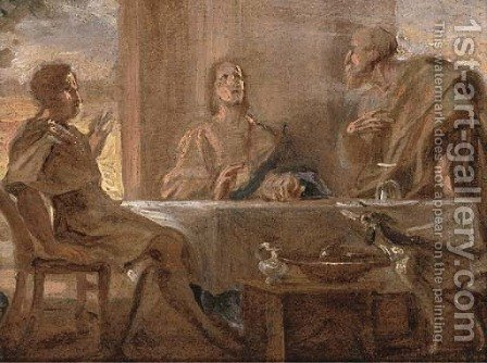 The Supper at Emmaus by (after) Jan Van Boeckhorst - Reproduction Oil Painting