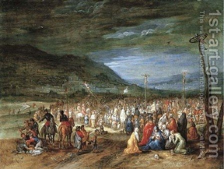 The Crucifixion by (after) Jan The Elder Brueghel - Reproduction Oil Painting