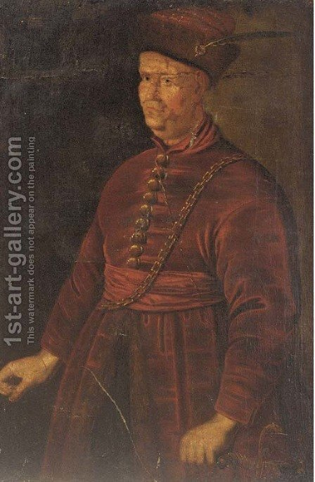 Portrait of a nobleman by (after) Jan Kupetzki - Reproduction Oil Painting