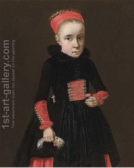 Portrait of a young girl by (after) Jan Kupetzki - Reproduction Oil Painting