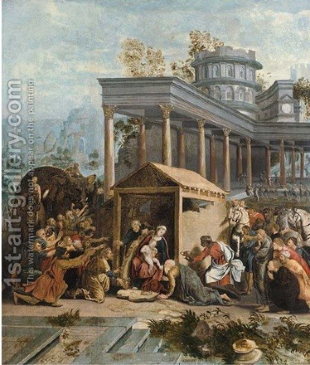 The Adoration of the Magi by (after) Jan Swart Van Groningen - Reproduction Oil Painting