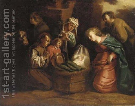 The Nativity by (after) Jan Van De Venne - Reproduction Oil Painting