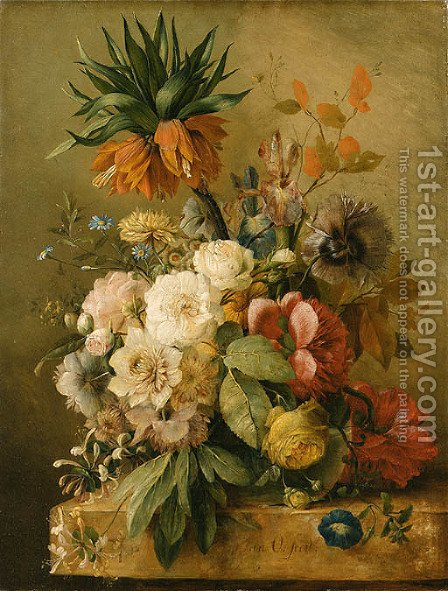 Flowers by (after) Jan Van Os - Reproduction Oil Painting