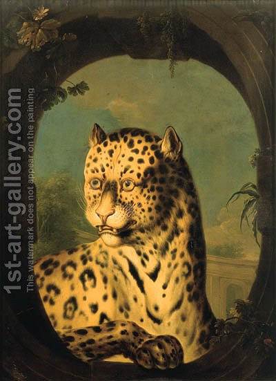 An ocelot by (after) Huet, Jean-Baptiste - Reproduction Oil Painting