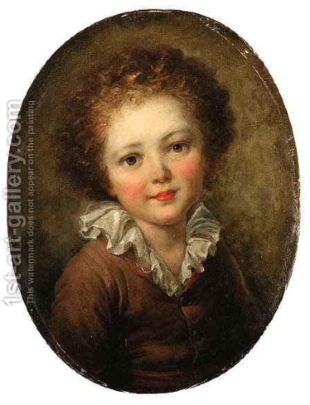 Portrait of a child by (after) Fragonard, Jean-Honore - Reproduction Oil Painting