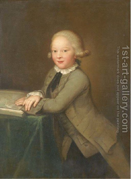 Portrait of a boy by (after) Jens Juel - Reproduction Oil Painting