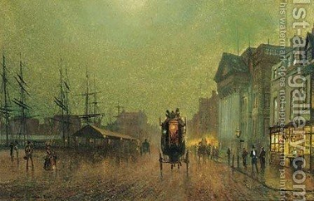 Liverpool by (after) John Atkinson Grimshaw - Reproduction Oil Painting