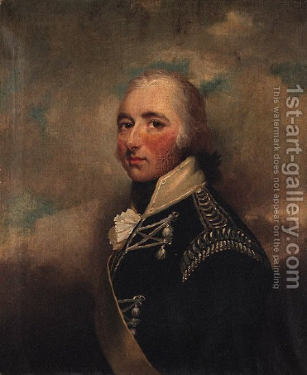 Portrait of an Officer, half-length, in the uniform of the 32nd Lancers by (after) Hoppner, John - Reproduction Oil Painting