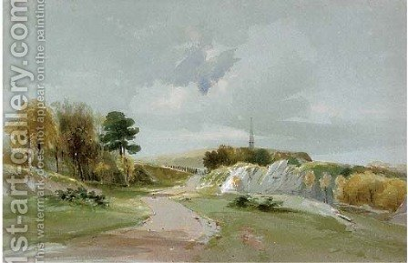 The Yarborough Monument, Culver Down, Isle of Wight by (after) John Linnell - Reproduction Oil Painting