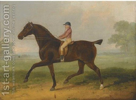 A racehorse with jockey up by (after) John Nott Sartorius - Reproduction Oil Painting