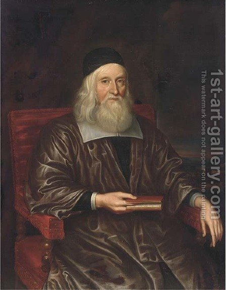 Portrait of a scholar by (after) John Riley - Reproduction Oil Painting