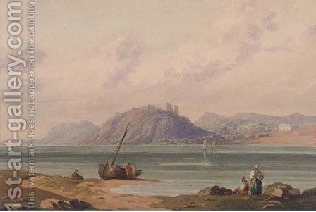 Fishermen on the beach by (after) John Varley - Reproduction Oil Painting