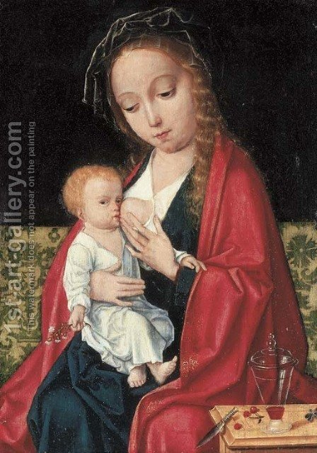 The Virgin and Child by (after) Cleve, Joos van - Reproduction Oil Painting