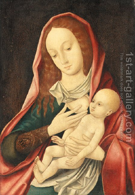 The Virgin and Child 3 by (after) Cleve, Joos van - Reproduction Oil Painting