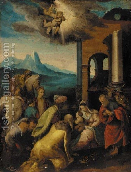 The Adoration of the Magi by (after) Joseph The Elder Heintz - Reproduction Oil Painting
