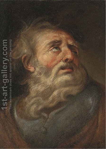 A male saint by (after) Joseph-Marie Vien - Reproduction Oil Painting