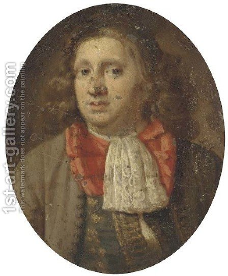 Portrait of a gentleman by (after) Karel De Moor - Reproduction Oil Painting
