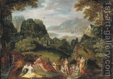 The contest between Apollo and Marsyas by (after) Karel Van Mander - Reproduction Oil Painting