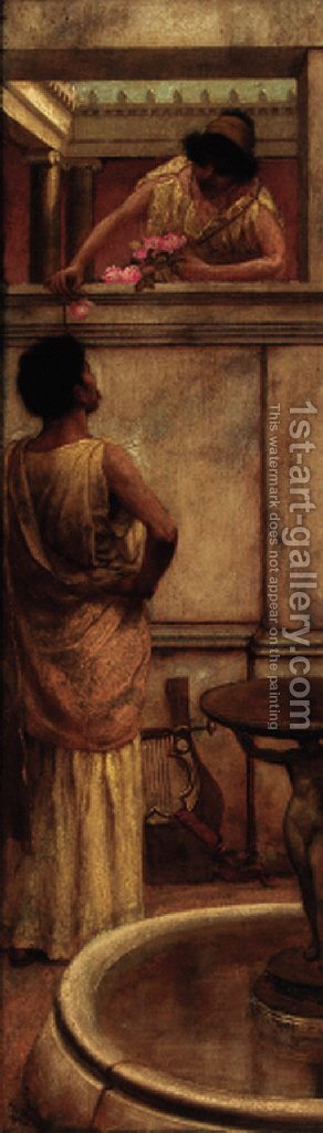 A Grecian Affair by (after) Laura Theresa Epps Alma-Tadema - Reproduction Oil Painting