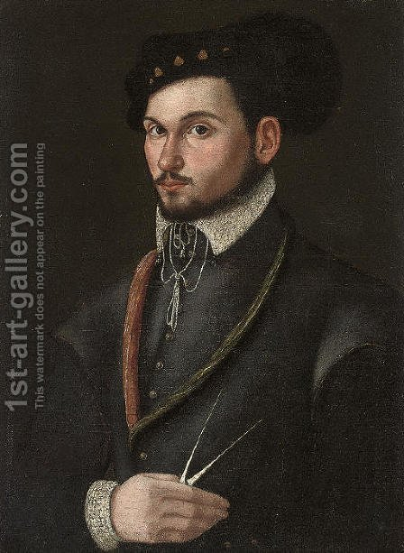 Portrait of a navigator by (after) Lavinia Fontana - Reproduction Oil Painting